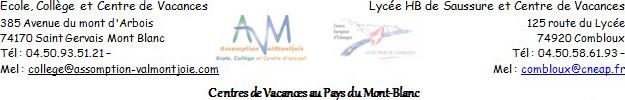 Logo Centre de vacances au pays du Mont-Blanc